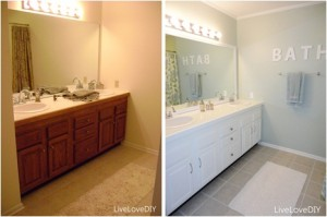 before and after bathroom paint