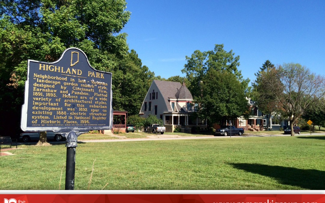 Historic Highland Park in Lafayette, Indiana